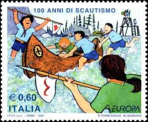 Europa - 52ª serie - 100 anni di scoutismo