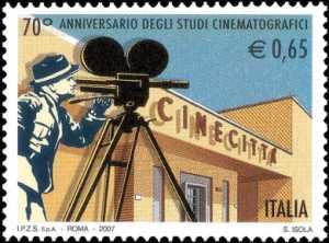 70° Anniversario degli Studi Cinematografici di Cinecittà - Roma - ingresso della sede storica
