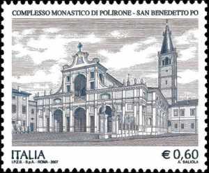 Patrimonio artistico e culturale italiano - Complesso Monastico di Polirone - San Benedetto Po - facciata dell'Abbazia