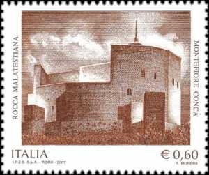Patrimonio artistico e culturale italiano - Rocca Malatestiana - Montefiore Conca ( RN ) - la Rocca