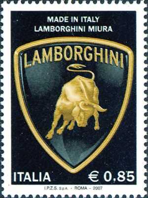 «Made in Italy» - 3ª serie - Azienda automobilistica «Lamborghini Miura»   - stemma