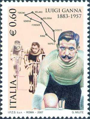 Lo sport italiano - Cinquantenario della morte di Luigi Ganna, vincitore della prima edizione del Giro d'Italia 1909