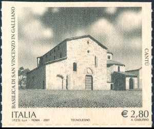 Patrimonio artistico e culturale italiano - Basilica di San Vincenzo in Galliano - Cantù ( CO ) - facciata della Basilica