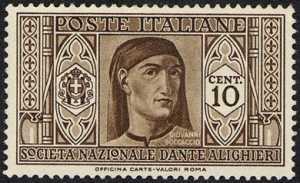1932 - Pro Società Nazionale «Dante Alighieri» - Giovanni Boccaccio
