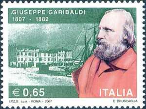 Bicentenario della nascita di Giuseppe Garibaldi - ritratto del condottiero e patriota