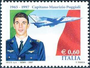 10° Anniversario della morte di Maurizio Poggiali - Capitano dell'Aeronautica Militare - ritratto e Tornado in volo