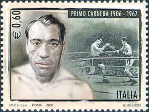 Lo sport italiano - 40° Anniversario della morte di Primo Carnera - ritratto del pugile