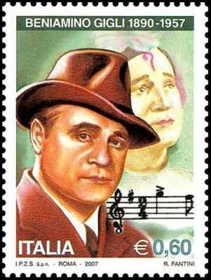 Personaggi celebri dello spettacolo - 50° Anniversario della morte di Beniamino Gigli , tenore