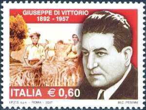 Cinquantenario della morte di Giuseppe di Vittorio - sindacalista e politico - ritratto