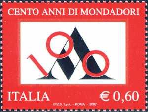 Centenario della fondazione della Casa Editrice Mondadori - logo