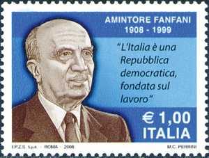 Centenario della nascita di Amintore Fanfani - ritratto dello statista