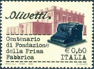 Centenario della prima Fabbrica Italliana di macchine per scrivere Olivetti - la sede di Ivrea
