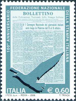 Centenario della istituzione della Federazione Nazionale della Stampa Italiana - Bollettino n°1 della FNSI
