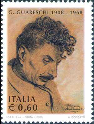 Centenario della nascita di Giovannino Guareschi - giornalista e scrittore - ritratto di Antonio Coppola