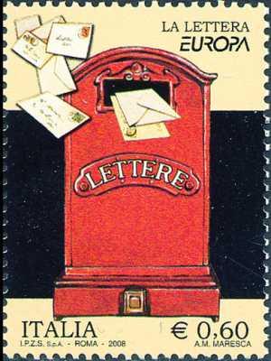 Europa - 53ª serie - La lettera - cassetta postale d'epoca - 60 c.