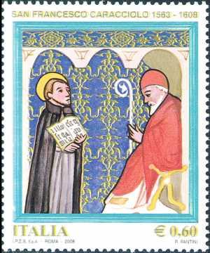 4° Centenario della morte di San Francesco Caracciolo. fondatore dell'Ordine dei Chierici Regolari Minori - Papa Sisto V e San Francesco Caracciolo