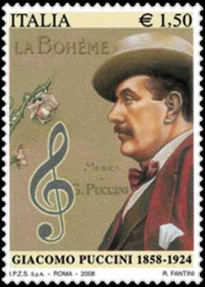 150° Anniversario della nascita di Giacomo Puccini - ritratto del compositore