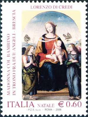 Natale - Madonna col Bambino, opera di Lorenzo di Credi