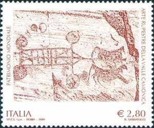 Patrimonio artistico e culturale italiano - Arte rupestre della Valle Camonica  - Patrimonio dell'Unesco - Incisione rupestre