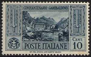 1932 - 50º Anniversario della morte di Giuseppe Garibaldi - Casa natale di Garibaldi, a Nizza