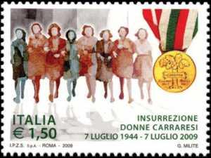 65º Anniversario dell'insurrezione delle donne carraresi - medaglia d'oro al valor civile