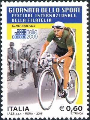 Festival Internazionale della filatelia  « Italia 2009» - Giornata dello sport - Gino Bartali