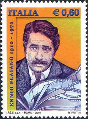 Centenario della nascita di Ennio Flaiano - ritratto dello scrittore