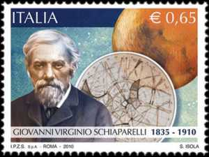Centenario della morte di Giovanni Virginio Schiaparelli - ritratto dell'astronomo