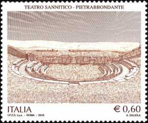 Patrimonio artistico e culturale italiano - Teatro Sannitico di Pietrabbondante ( IS ).