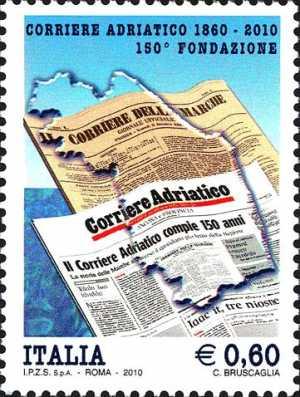 150° anniversario della fondazione del «Corriere Adriatico»  di Ancona