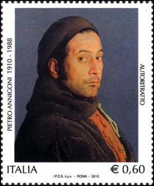 Centenario della nascita di Pietro Annigoni - autoritratto