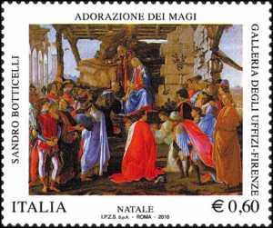 Natale - «Adorazione dei magi» -  dipinto di Botticelli