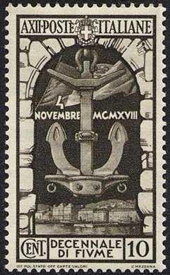 1934 -  Decennale dell'Annessione di Fiume - Ancora