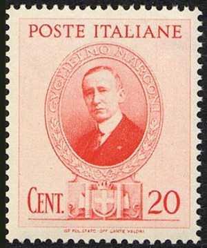 1938 - Omaggio a Guglielmo Marconi - ritratto dello scienziato