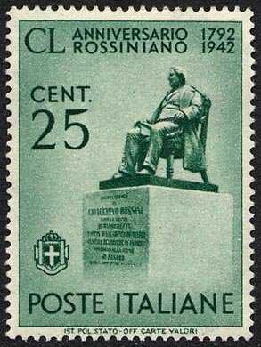 1942 - 150º Anniversario della nascita di Gioacchino Rossini - Monumento