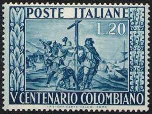 """""""Lo sbarco di Colombo"""" - affresco di G.B. Carlone"""