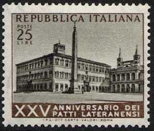 25° Anniversario dei Patti Lateranensi - L. 25