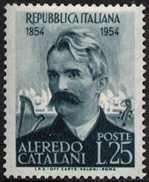 Centenario della nascita del compositore Alfredo Catalani - L. 25