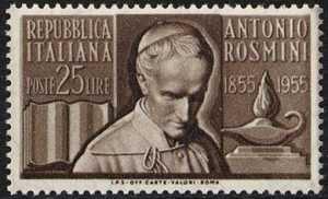 Centenario della morte di Antonio Rosmini - L. 25