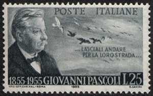 Centenario della nascita di Giovanni Pascoli - ritratto del  poeta
