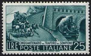 Cinquantenario del traforo del Sempione - L. 25