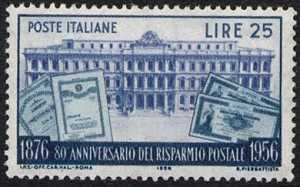 80° Anniversario del Risparmio Postale in Italia - Palazzo delle Casse Postali