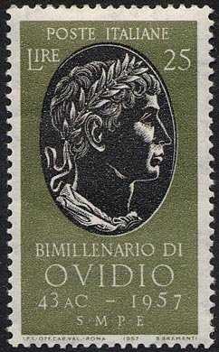 Bimillenario della nascita di Publio Ovidio Nasone - ritratto del poeta