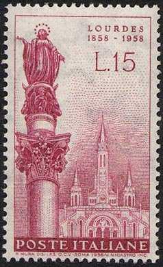 Centenario della prima apparizione della Vergine a Bernadette - statua dell'Immacolata a Piazza di Spagna