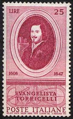 350° Anniversario della nascita di Evangelista Torricelli, fisico e matematico - ritratto