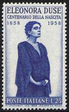 Centenario della nascita di Eleonora Duse - ritratto dell'attrice