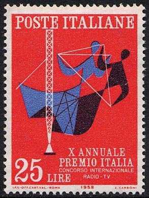 """X Annuale del """"Premio Italia"""" - concorso internazionale Radio-TV - L. 25"""