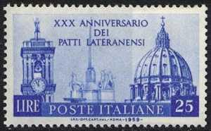 XXX Anniversario dei Patti Lateranensi - L. 25