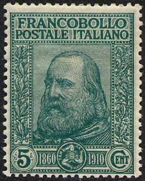 1910 - Effige di Giuseppe Garibaldi