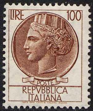 """""""Italia turrita"""" - L. 100"""